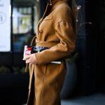 Шикарное пальто из натуральной шерсти в цвете кэмел 2