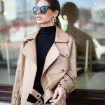 Кожаная куртка - косуха в стиле Celine цвет бежево - карамельный 3