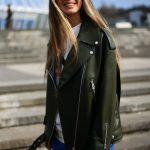 Стильная куртка - косуха из натуральной кожи в удлинённом варианте 2