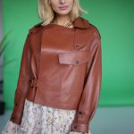 Куртка в стиле Celine цвета терракот 2