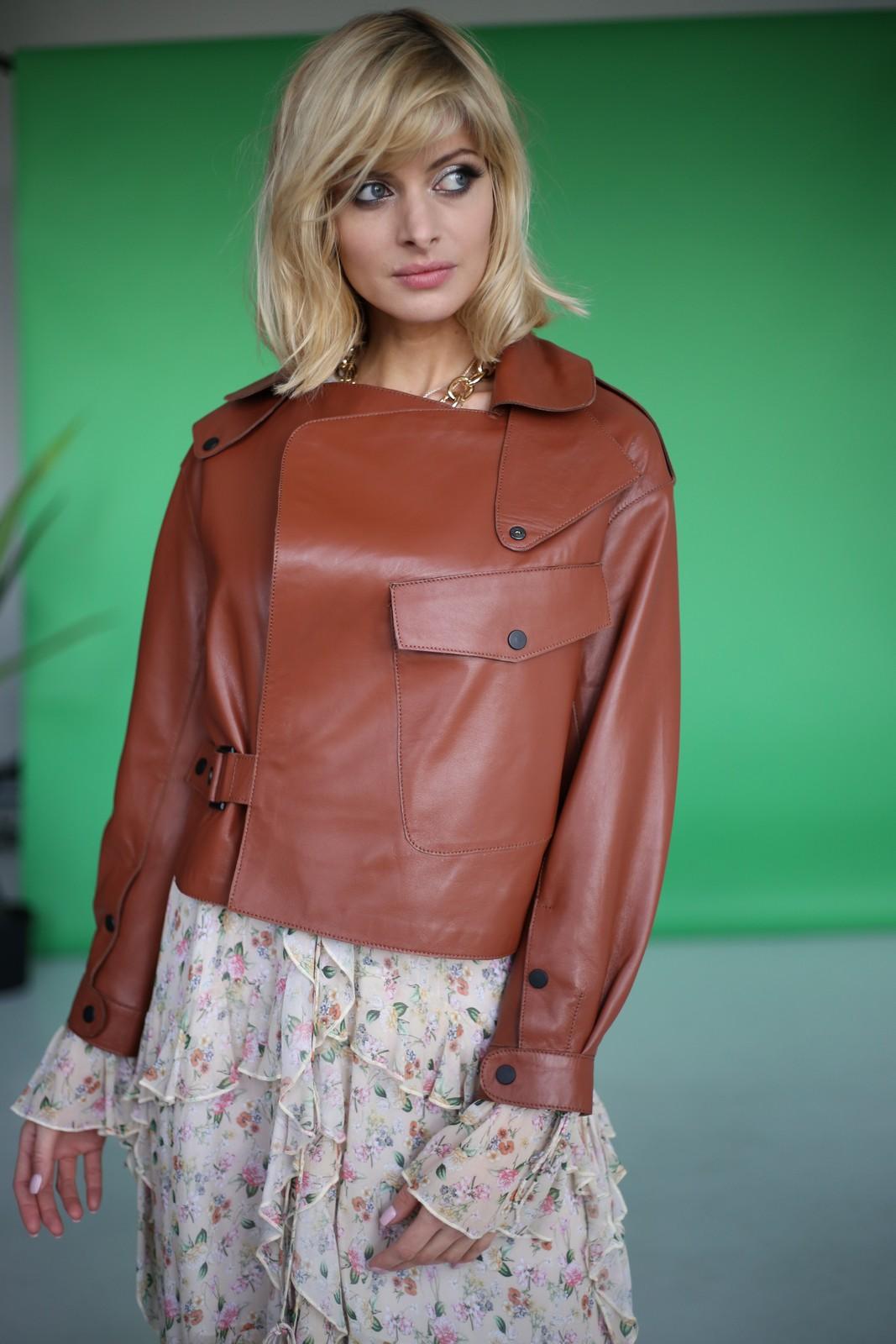Куртка в стиле Celine цвета терракот 1