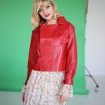 Куртка в стиле Celine красного цвета 3