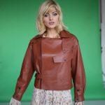 Куртка в стиле Celine цвета терракот 3
