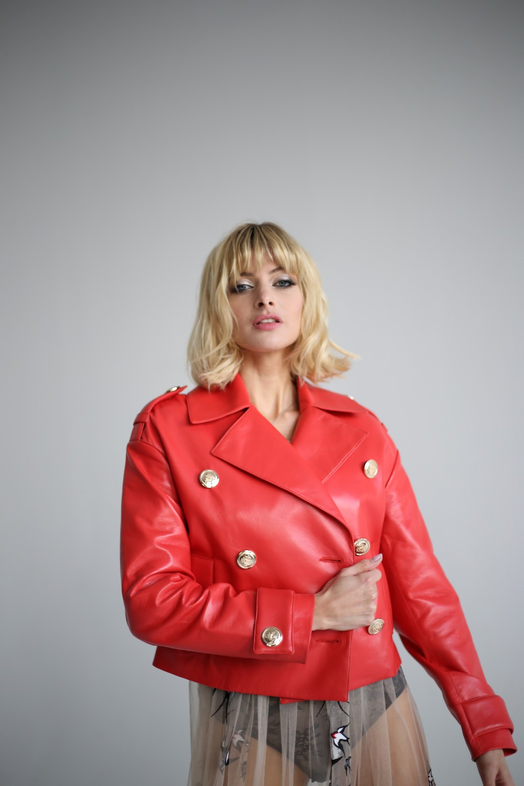 Куртка - жакет кораллового цвета 1