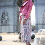 Куртка из натуральной кожи лаке цвета леденец в стиле Celine 3