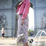 Куртка из натуральной кожи лаке цвета леденец в стиле Celine 2