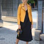Куртка - косуха из натуральной кожи в цвете насыщенного шафрана 5