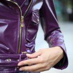 Куртка кожаная фиолетовая 4