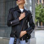 Кожаная куртка – косуха Аcne 3
