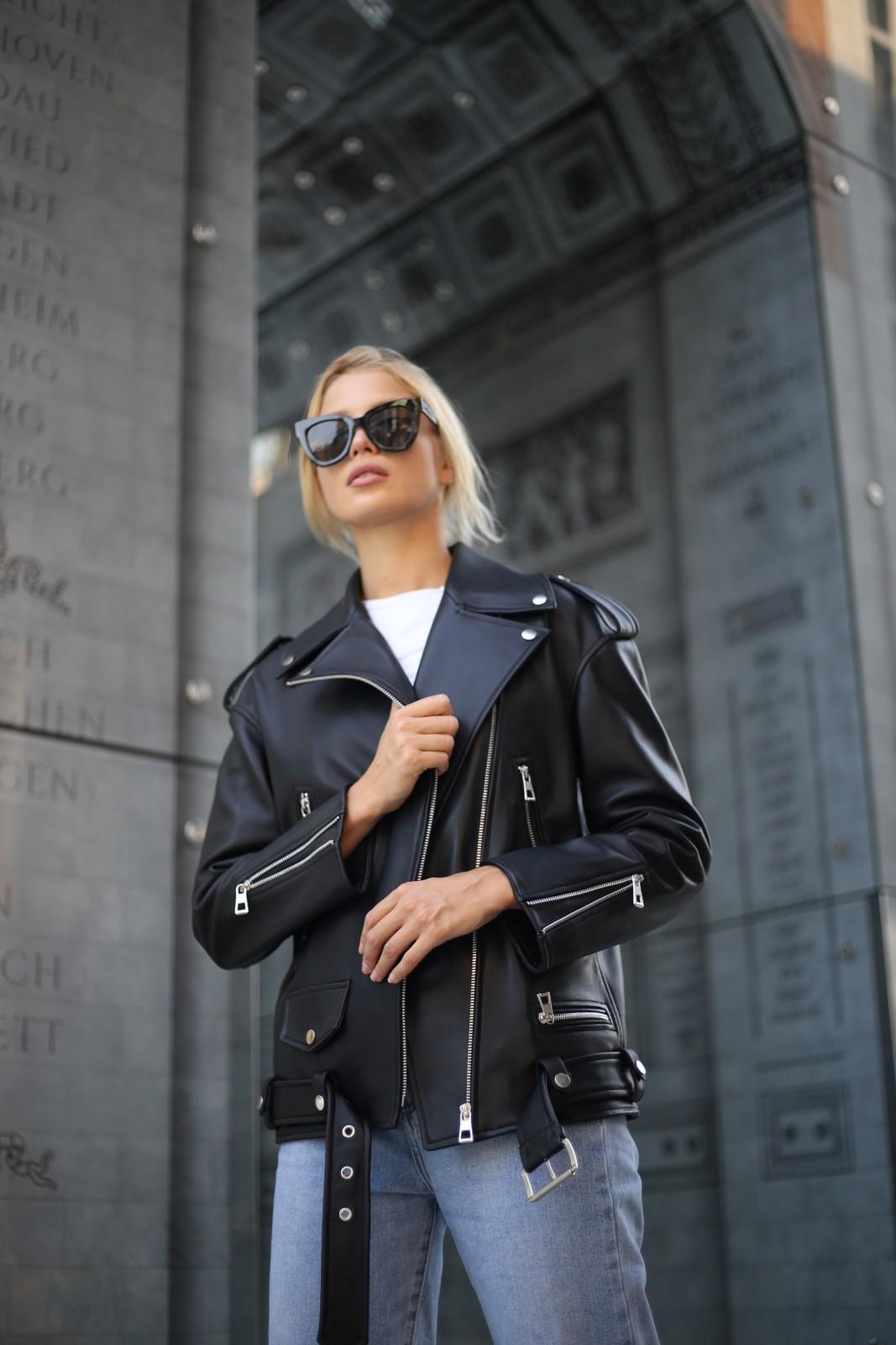 Кожаная куртка – косуха Аcne 1