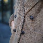 Дубленка из натуральной овчины кёрли цвета каппуччино. 4
