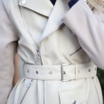Комбинированная куртка из натуральной кожи и кашемира ванильного цвета . 3