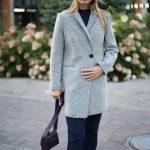 Пальто из меланжевой шерсти мериноса серого цвета. 4