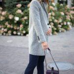 Пальто из меланжевой шерсти мериноса серого цвета. 3