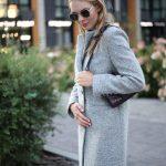 Пальто из меланжевой шерсти мериноса серого цвета. 2
