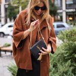 Пальто пончо из шерсти альпаки и кашемира цвета корицы. 3