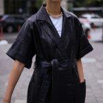 Платье - пальто из натуральной кожи 2