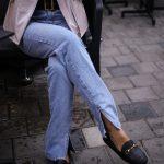 Куртка - косуха из натуральной кожи нежно - розового цвета. 4