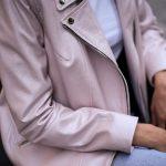 Куртка - косуха из натуральной кожи нежно - розового цвета. 3