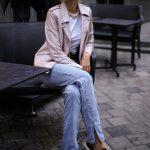 Куртка - косуха из натуральной кожи нежно - розового цвета. 2